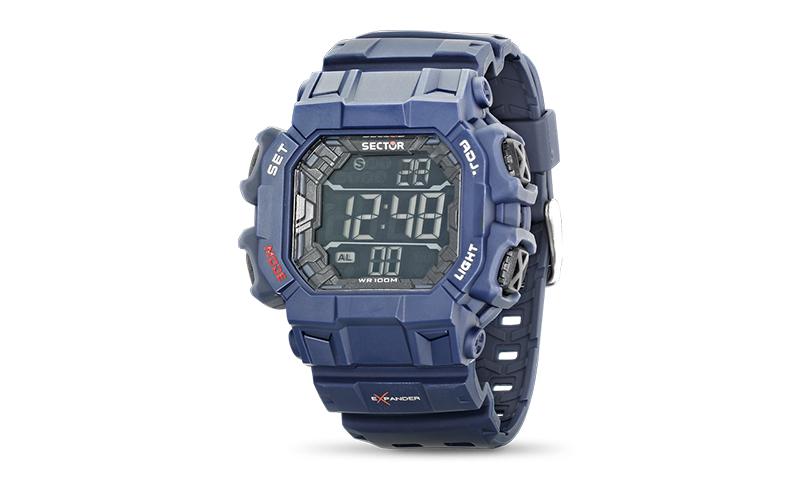 Sector R3251172921 Ρολόι Sport Unisex, ελβετικός μηχανισμός Quartz σε Μπλε χρώμα ρολόγια χειρός   unisex ρολόγια χειρός