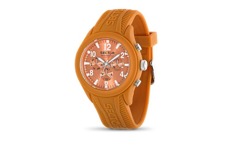 Sector R3251576007 Αντρικό Ρολόι Sport Quartz σε Πορτοκαλί χρώμα της σειράς Stee ρολόγια χειρός   ανδρικά ρολόγια χειρός