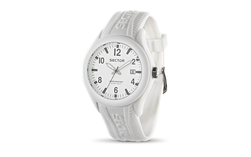 Sector R3251576009 Ρολόι Sport Αντρικό, ελβετικός μηχανισμός Quartz σε Λευκό χρώ ρολόγια χειρός   ανδρικά ρολόγια χειρός