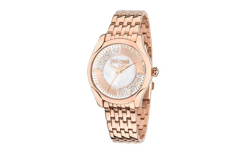 Just Cavalli R7253593502 Γυναικείο Ρολόι Embrace Rose Gold Steel Bracelet - Just γυναίκα   ρολόγια