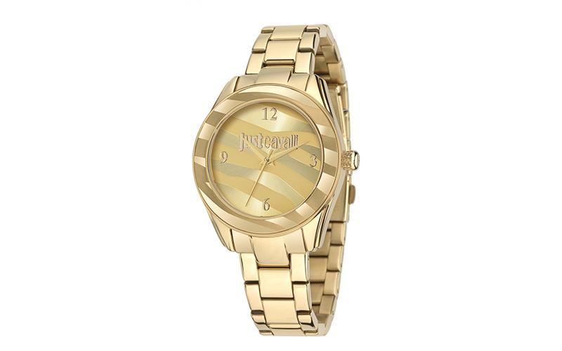Just Cavalli Γυναικείο Ρολόι Yellow Gold Sunray Steel Bracelet της σειράς Just S γυναίκα   ρολόγια
