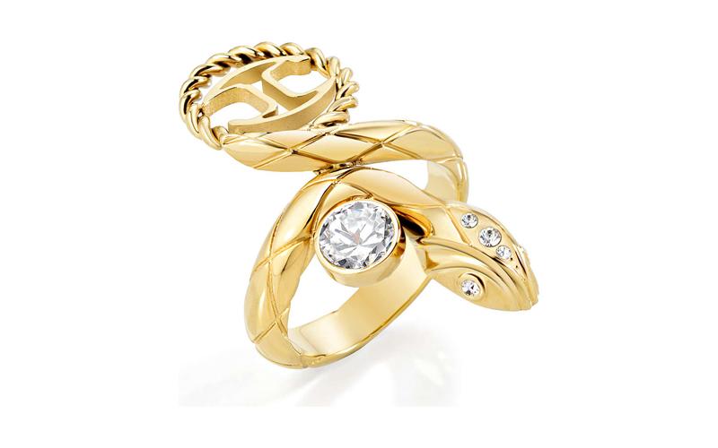 Γυναικείο Κόσμημα Δαχτυλίδι από ανοξείδωτο ατσάλι σε Χρυσό Χρώμα με Κρύσταλλο κα γυναικεία αξεσουάρ και κοσμήματα   γυναικεία δαχτυλίδια