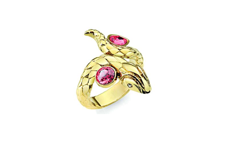 Γυναικείο Κόσμημα Δαχτυλίδι από ανοξείδωτο ατσάλι σε Χρυσό Χρώμα με Κόκκινη πέτρ γυναικεία αξεσουάρ και κοσμήματα   γυναικεία δαχτυλίδια