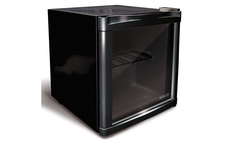 Sogo Mini Ψυγείο Mini Bar 47L σε Μαύρο Χρώμα με διάφανη πόρτα ιδανικό για Μπαρ ή ηλεκτρικές οικιακές συσκευές   ψυγεία και καταψύκτες