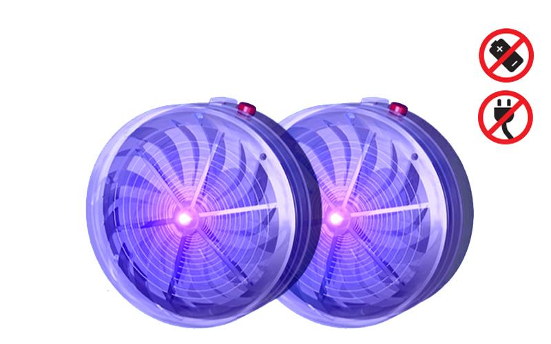 Solar Buzzkill Ηλιακός εξολοθρευτής κουνουπιών Σετ 2 τεμ Αυτόνομου Εσωτερικού και Εξωτερικού χώρου Ενοχλητικών Ζωυφίων και Εντόμων Solar Powered Twin