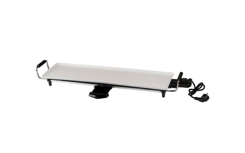 Πλάκα Ψησίματος με λαβές 1800W 70x23cm σε Λευκό χρώμα, Telefunken Teppanyaki gri κουζίνα   θερμός και παγούρια