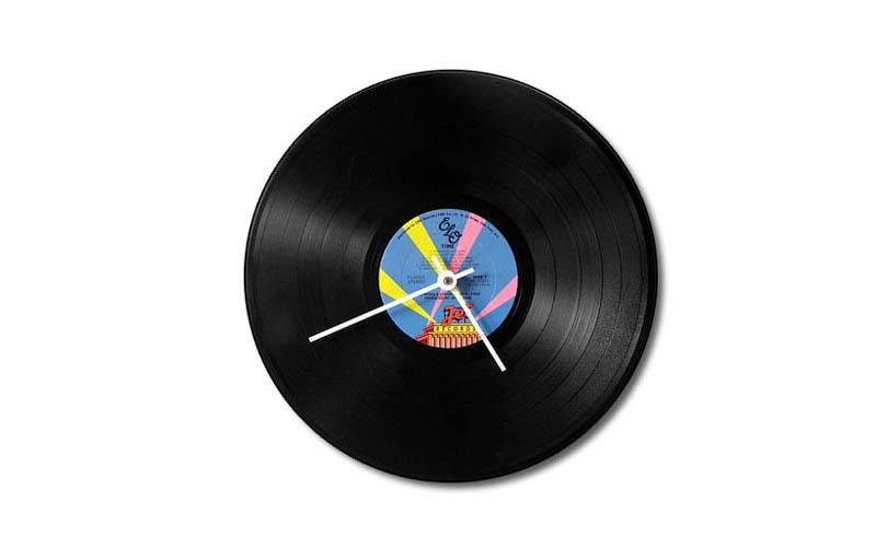 Χειροποίητο Ρολόι Ρετρό Από Δίσκο Βινυλίου - OEM διακόσμηση και φωτισμός   ρολόγια τοίχου  επιτραπέζια και επιδαπέδια ρολόγια