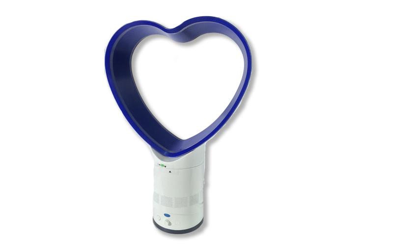 Επιτραπέζιος Ανεμιστήρας 40W σε σχήμα καρδιάς χωρίς πτερύγια, 10457 - Only θέρμανση και κλιματισμός   ψύξη