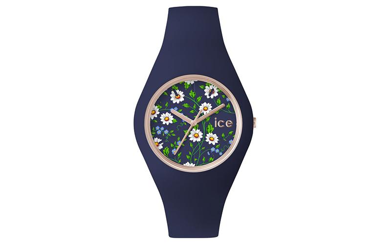 Ρολόι Γυναικείο, μηχανισμός Quartz σε Μπλε σκούρο χρώμα, της σειράς ICE FLOWER,  γυναίκα   ρολόγια