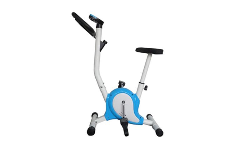 Kfit Στατικό Ποδήλατο Γυμναστικής 83x46x103cm με γαλάζιες λεπτομέρειες - Kfit γυμναστική  και  fitness   καθιστά ποδήλατα