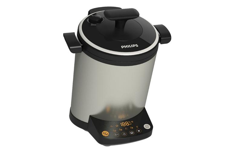 Multi Cooker Ανοξείδωτος Ηλεκτρονικός Μάγειρας 2L με 3D ζέσταμα φαγητού και 16 διαφορετικά προγράμματα προετοιμασίας φαγητού σε Ασημί Χρώμα, Phili