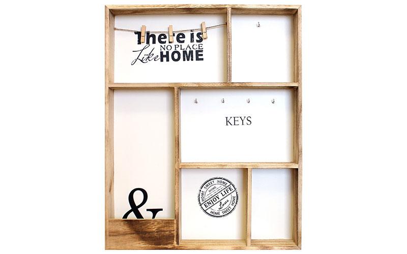 Arti Casa 90761 Ξύλινη κλειδοθήκη 40x60cm 5 θέσεων με αποθηκευτικούς χώρους - Ar οργάνωση σπιτιού   κλειδοθήκες