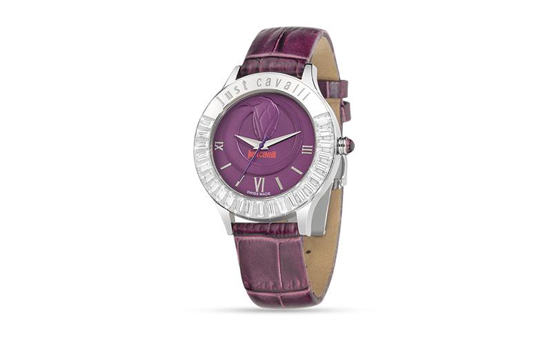 Γυναικείο Ρολόι Luminal Violet Dial Strap, Just Cavalli R7251597503 - Just Caval γυναίκα   ρολόγια