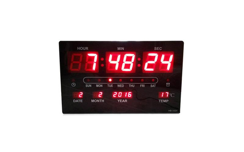 Μεγάλο Ψηφιακό Ρολόι Τοίχου - Πινακίδα LED με Θερμόμετρο & Ημερολόγιο Jumbo Cloc σπίτι   ηλεκτρολογικός εξοπλισμός