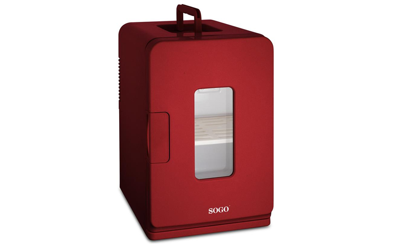 SOGO Mini Φορητό Ψυγείο 15L Κόκκινο με Επιλογή για Ζεστή ή Κρύο, NEV-SS-475 - SO μικροσυσκευές   ψυγεία συντηρητές κρασιών