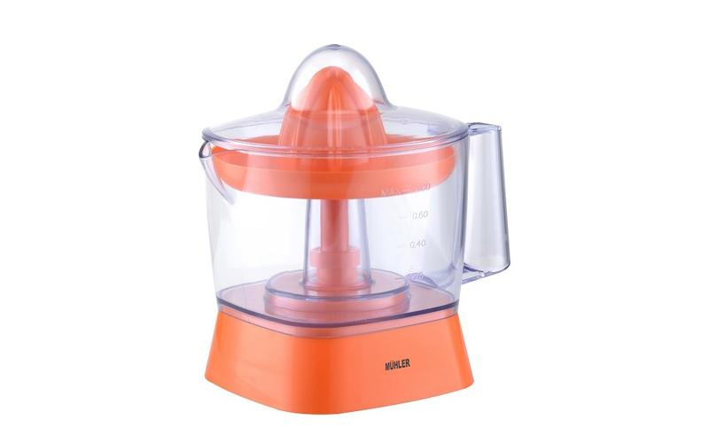 Ηλεκτρικός Λεμονοστίφτης - Αποχυμωτής 800ml, 25W σε Πορτοκαλί χρώμα, Muhler MJ-2025 - Muhler