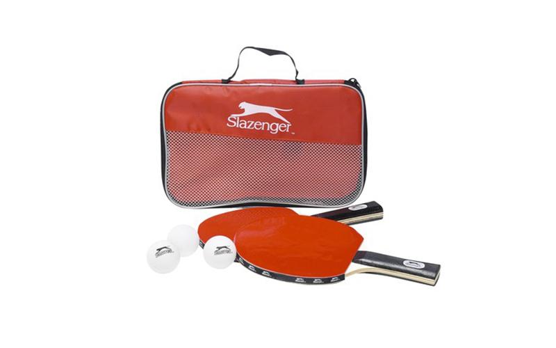 Σετ Ping Pong 6 τμχ. με 2 ξύλινες ρακέτες, 3 μπάλες και τσάντα μεταφοράς, Slazen γυμναστική  και  fitness   αξεσουάρ ping pong