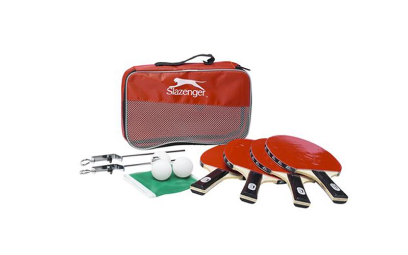 Σετ Ping Pong 10 τμχ. με 4 ξύλινες ρακέτες, 4 μπάλες, Δίχτυ 1,23 μέτρων και τσάν γυμναστική  και  fitness   αξεσουάρ ping pong