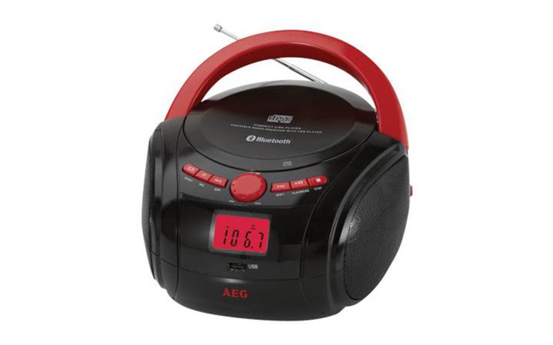 Φορητό CD - Radio με Bluetooth 60W σε Κόκκινο χρώμα, AEG 4348BT - AEG τεχνολογία   cd   mp3 4   dvd   media players