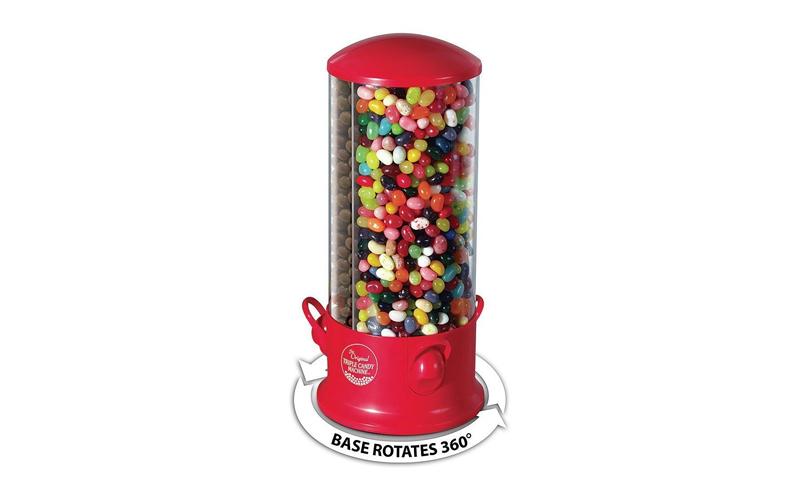 Τριπλός Περιστρεφόμενος Διανεμητής Γλυκών και Ξηρών Καρπών με μοχλό σε Κόκκινο χ διακόσμηση   διάφορα διακοσμητικά