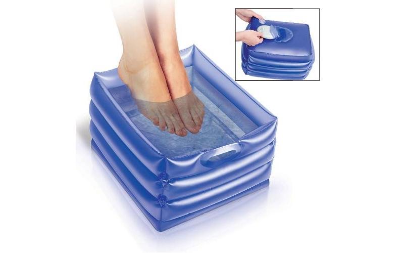 Φορητό Φουσκωτό Ποδόλουτρο για Μασάζ ποδιών 25.4x30.5x15cm σε Μπλε/Μωβ χρώμα, Id υγεία  και  ομορφιά   μασάζ