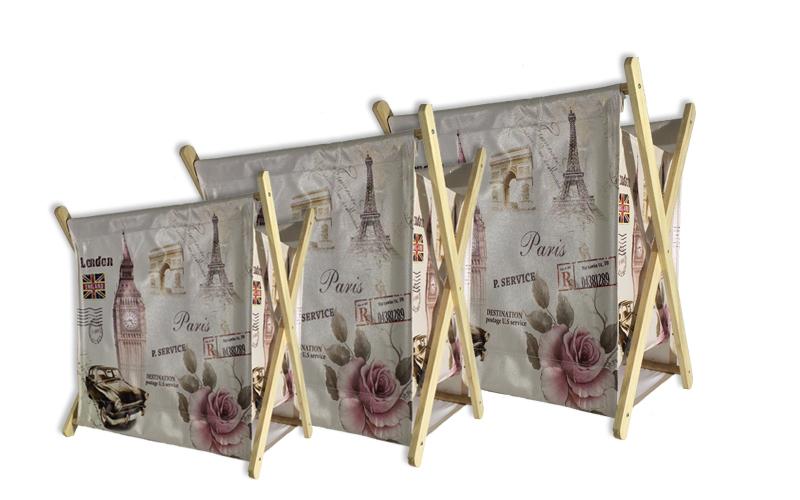Σετ 3 τμχ. Πτυσσόμενες Θήκες για Περιοδικά και Εφημερίδες με θέμα τον πύργο του  διακόσμηση   διάφορα διακοσμητικά