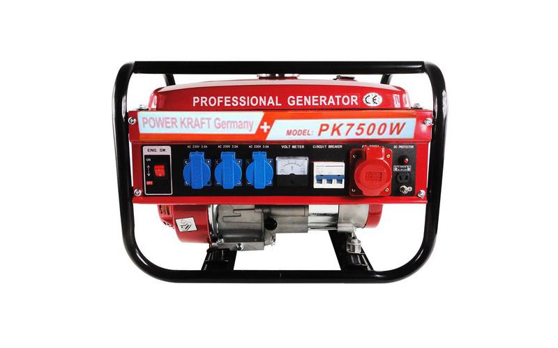 Φορητή Γεννήτρια Βενζίνης 12V/230V/400V 6500W τριφασική, Power Kraft PK-6500W -  σπίτι   εργαλεία
