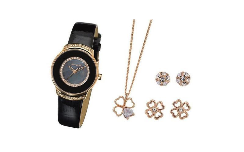 Σετ συλλογή Κοσμημάτων με κολιέ, 2 σετ σκουλαρίκια και ρολόι σε συσκευασία δώρου γυναίκα   αξεσουάρ   κόσμημα