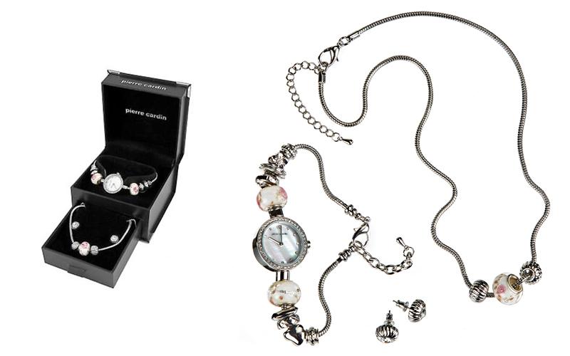 Σετ συλλογή Κοσμημάτων με κολιέ, 1 σετ σκουλαρίκια και ρολόι σε συσκευασία δώρου γυναίκα   αξεσουάρ   κόσμημα