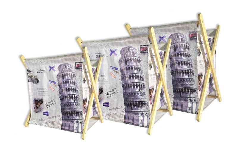 Σετ 3 τμχ. Πτυσσόμενες Θήκες για Περιοδικά και Εφημερίδες με θέμα τον πύργο της  διακόσμηση   διάφορα διακοσμητικά