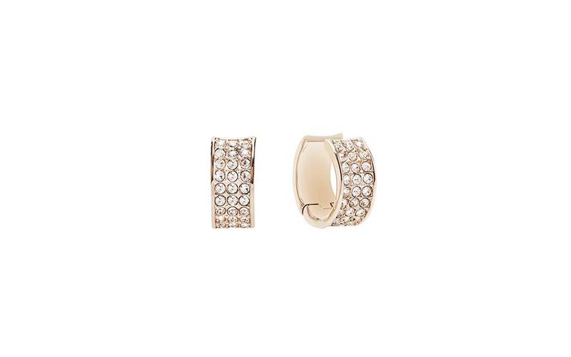 Γυναικείο Κόσμημα Σκουλαρίκια από Ανοξείδωτο Ατσάλι με Κρυσταλλάκια σε Ροζ χρυσό γυναικεία αξεσουάρ και κοσμήματα   γυναικεία σκουλαρίκια