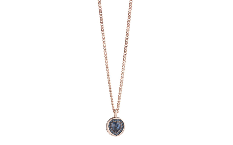 Γυναικείο Κόσμημα Κολιέ 50cm σε σχήμα καρδιάς από Ανοξείδωτο Ατσάλι σε Ροζ Χρυσό γυναίκα   αξεσουάρ   κόσμημα
