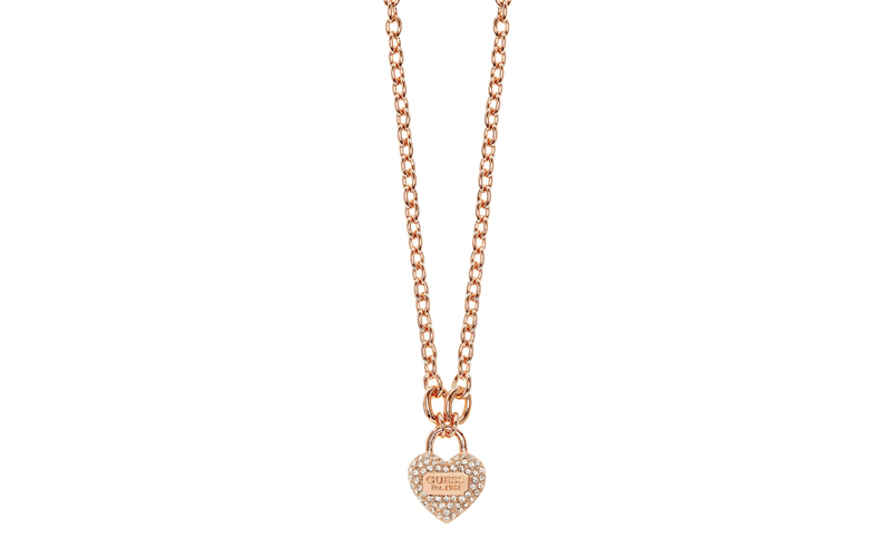 Γυναικείο Κόσμημα Κολιέ 45cm σε σχήμα καρδιάς από Ανοξείδωτο Ατσάλι σε Ροζ Χρυσό γυναίκα   αξεσουάρ   κόσμημα