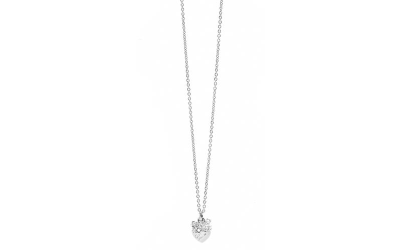 Γυναικείο Κόσμημα Κολιέ 41cm σε σχήμα καρδιάς από Ανοξείδωτο Ατσάλι με Κρυσταλλά γυναίκα   αξεσουάρ   κόσμημα