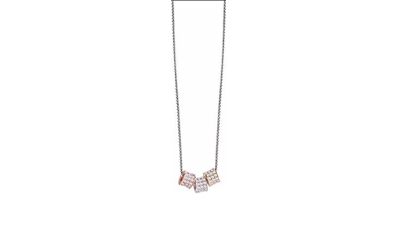 Γυναικείο Κόσμημα Κολιέ 43cm από Ανοξείδωτο Ατσάλι με Κρυσταλλάκια και τελείωμα  γυναίκα   αξεσουάρ   κόσμημα