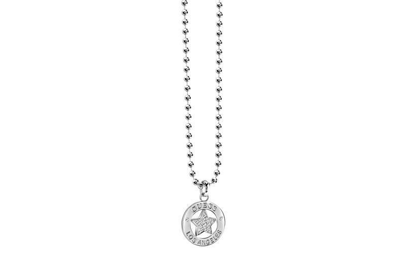 Γυναικείο Κόσμημα Κολιέ 41cm από Ανοξείδωτο Ατσάλι με Κρυσταλλάκια, της σειράς F γυναικεία αξεσουάρ και κοσμήματα   γυναικεία κολιέ
