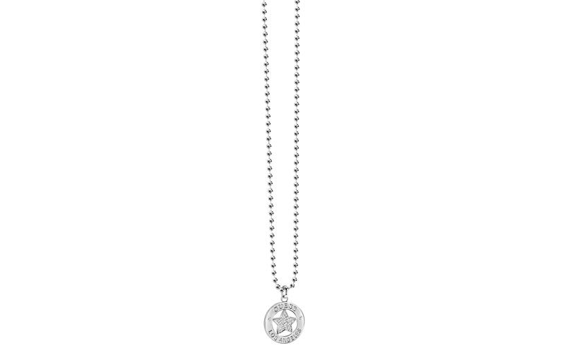 Γυναικείο Κόσμημα Κολιέ 90cm από Ανοξείδωτο Ατσάλι με Κρυσταλλάκια, της σειράς F γυναικεία αξεσουάρ και κοσμήματα   γυναικεία κολιέ
