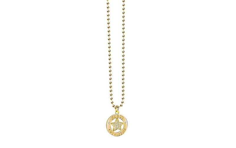 Γυναικείο Κόσμημα Κολιέ 90cm από Ανοξείδωτο Ατσάλι σε Χρυσό χρώμα με Κρυσταλλάκι γυναικεία αξεσουάρ και κοσμήματα   γυναικεία κολιέ