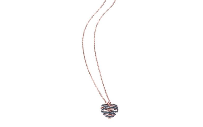 Γυναικείο Κόσμημα Κολιέ 81cm σε σχήμα καρδιάς από Ανοξείδωτο Ατσάλι σε Ροζ Χρυσό γυναίκα   αξεσουάρ   κόσμημα