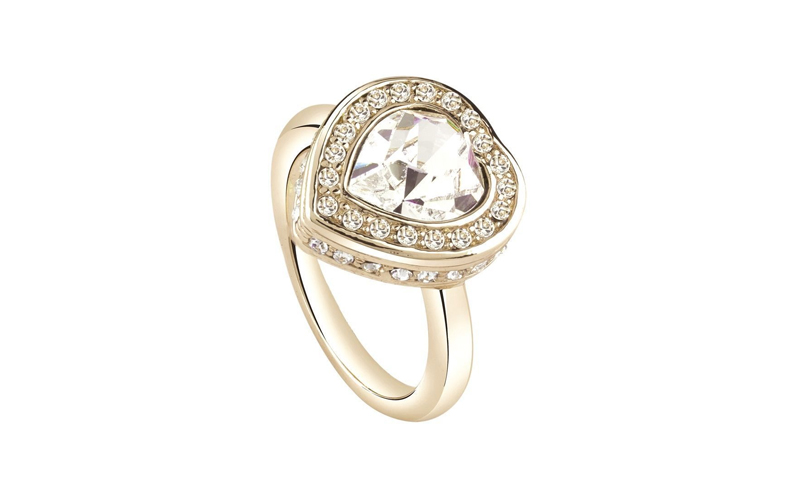 Γυναικείο Κόσμημα Δαχτυλίδι σε σχήμα καρδιάς από Ανοξείδωτο Ατσάλι σε Χρυσό χρώμ γυναικεία αξεσουάρ και κοσμήματα   γυναικεία δαχτυλίδια