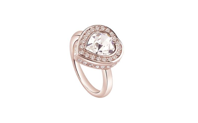 Γυναικείο Κόσμημα Δαχτυλίδι σε σχήμα καρδιάς από Ανοξείδωτο Ατσάλι σε Ροζ Χρυσό  γυναικεία αξεσουάρ και κοσμήματα   γυναικεία δαχτυλίδια