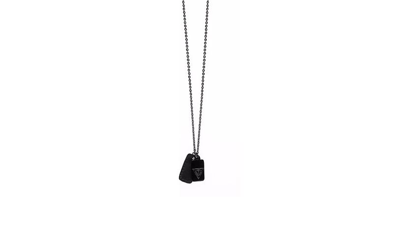 Αντρικό Κόσμημα Κολιέ 57cm από Ανοξείδωτο Ατσάλι σε Μαύρο χρώμα τύπου στρατιωτικ ανδρικά αξεσουάρ και κοσμήματα   ανδρικά κολιέ