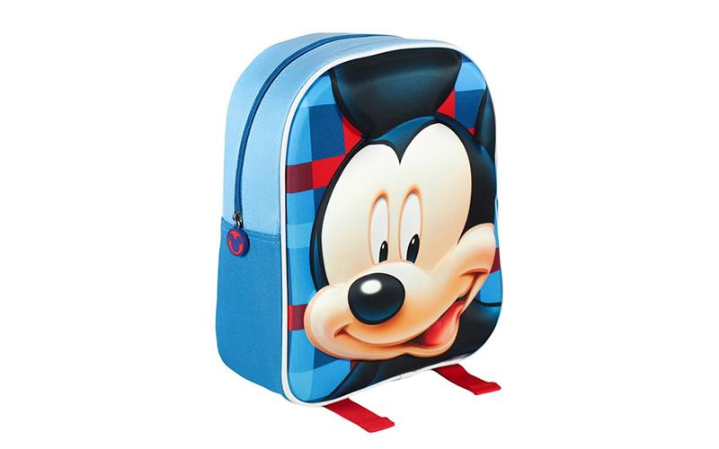 Disney Σχολική τσάντα 3D με φερμουάρ και ρυθμιζόμενους ιμάντες με θέμα Mickey Mo σχολικά είδη   σχολικές τσάντες