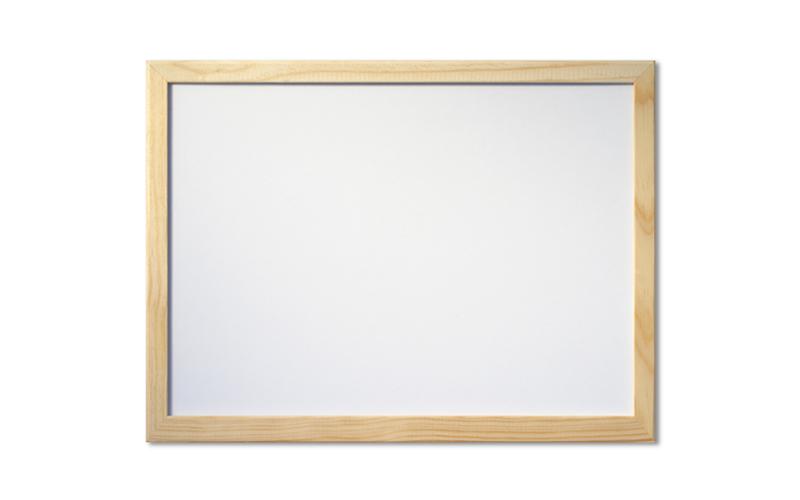 Λευκός Πίνακας Σημειώσεων 60x40cm με Ξύλινη Κορνίζα, 82113 - OEM διακόσμηση και φωτισμός   πινακίδες  καμβάδες και αφίσες