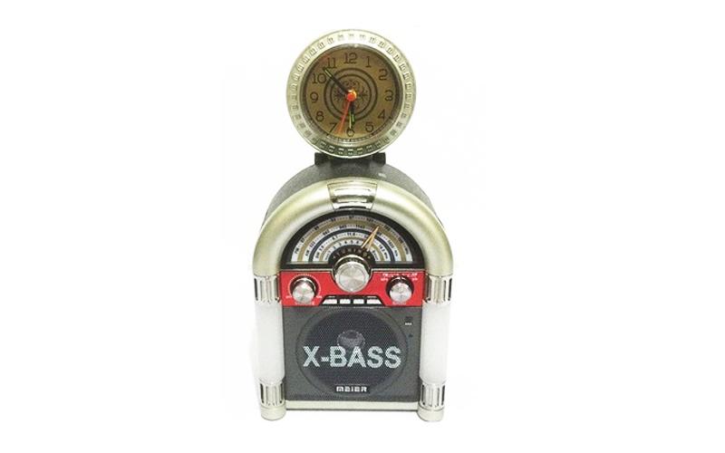 Φορητό Mp3 Player FM Ράδιο με Ηχείο 1.5W & Αναλογικό Ρολόι σε retro σχήμα jukebo ήχος   bluetooth και μικρά ηχεία