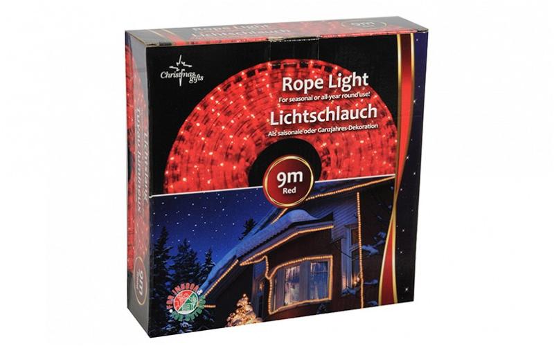 Christmas Gifts 48650 Φωτοσωλήνας Στρογγυλός 36 LED ανά 1.5m 230V με Κόκκινο χρώ χριστουγεννιάτικα είδη   φωτάκια λαμπάκια