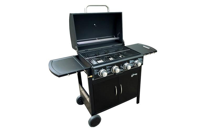 Υπαίθρια Ψησταριά Αερίου Barbeque grill γκρίλ 132x100x49cm, Kooki 54961 - Cb κήπος   ψησταριές   barbeque