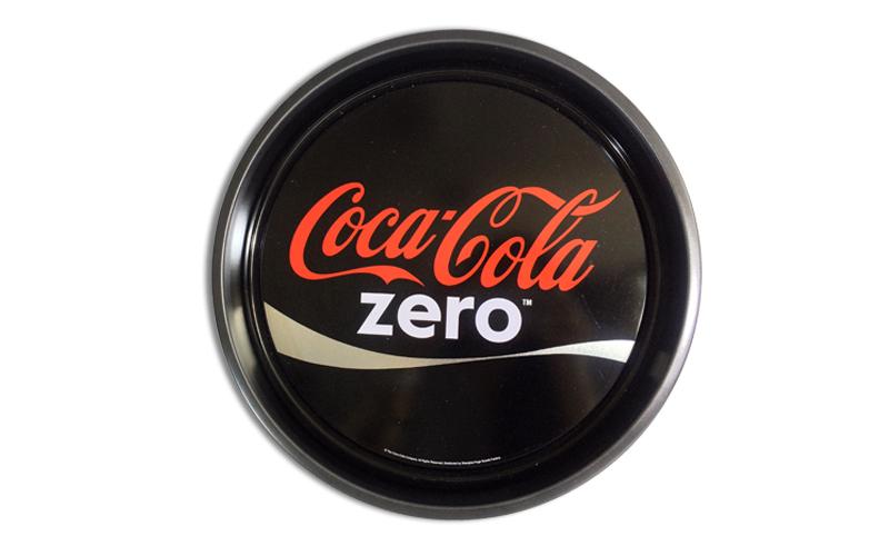 Στρογγυλός Retro Vintage Μεταλλικός Δίσκος Σερβιρίσματος 33cm με θέμα Coca-Cola  σερβίρισμα   δίσκοι  πιατέλες και ορντεβιέρες