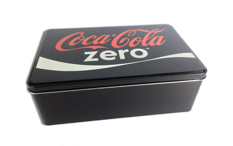 Μεταλλικό Κουτί αποθήκευσης 20x13x6.7cm με Θέμα Coca-Cola Zero, 613-400028 - The κουζίνα   κουτιά κουζίνας και ψωμιέρες