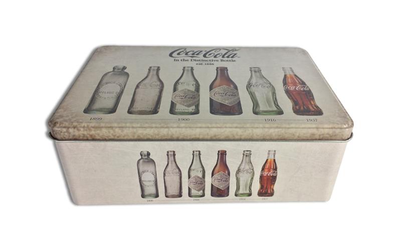Μεταλλικό Vintage Κουτί αποθήκευσης 20x13x6.7cm με Θέμα την εξέλιξη του μπουκαλι κουζίνα   κουτιά κουζίνας και ψωμιέρες